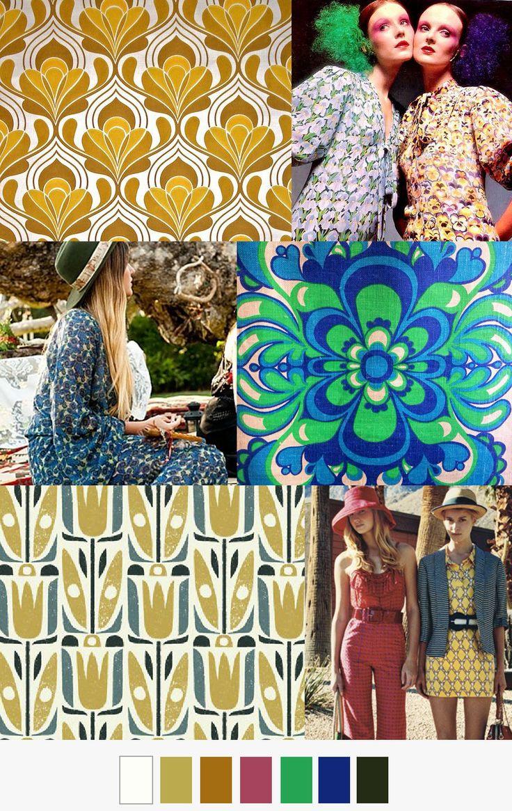11 best 70 39 s prints images on pinterest texture colors for Wallpaper trend 2017