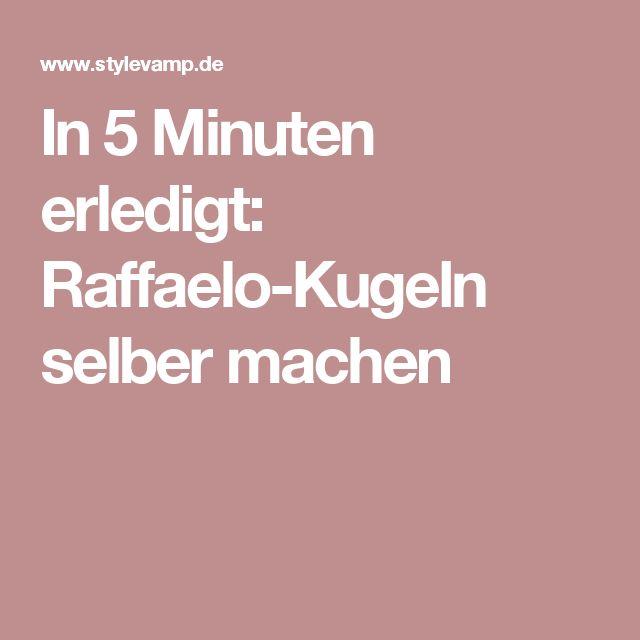 In 5 Minuten erledigt: Raffaelo-Kugeln selber machen