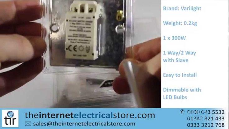 Varilight V-Pro LED Dimmer Light Switch JDSI301S 1 Gang 300 Watts Energy...
