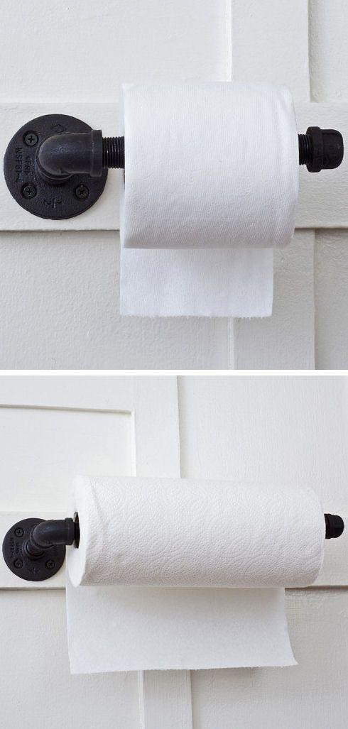 Plumbing Pipe Toilet Paper & Napkin Holder ♥ #diy #idea
