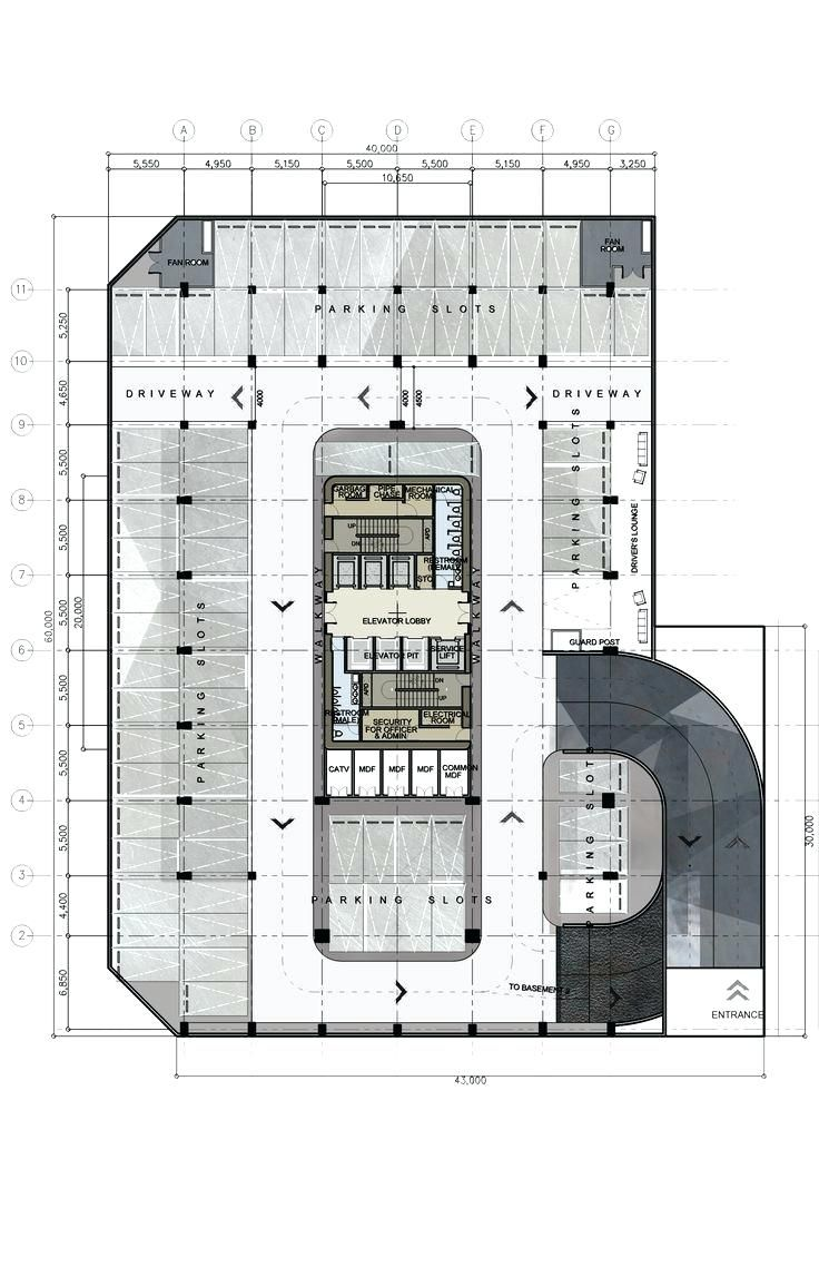 Corporate Office Planning And Design Pdf Basement Plan Design 8 Proposed Corporate Office Building Hig Building Plans House Building Design Plan Parking Design