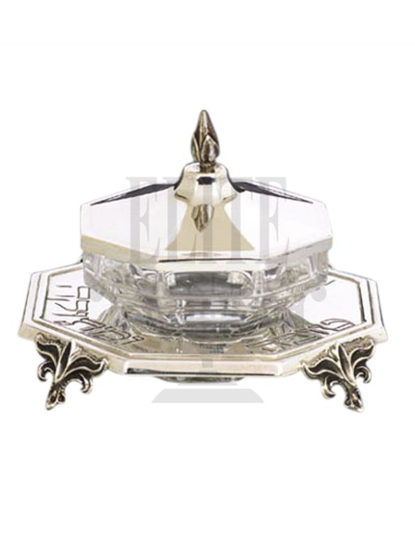 #Hexagon #Silver #Honey and #Sugar #Dish ( #Hazorfim )
