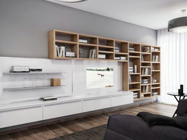17 bästa idéer om moderne wohnwände på pinterest | tv wand modern, Wohnzimmer dekoo