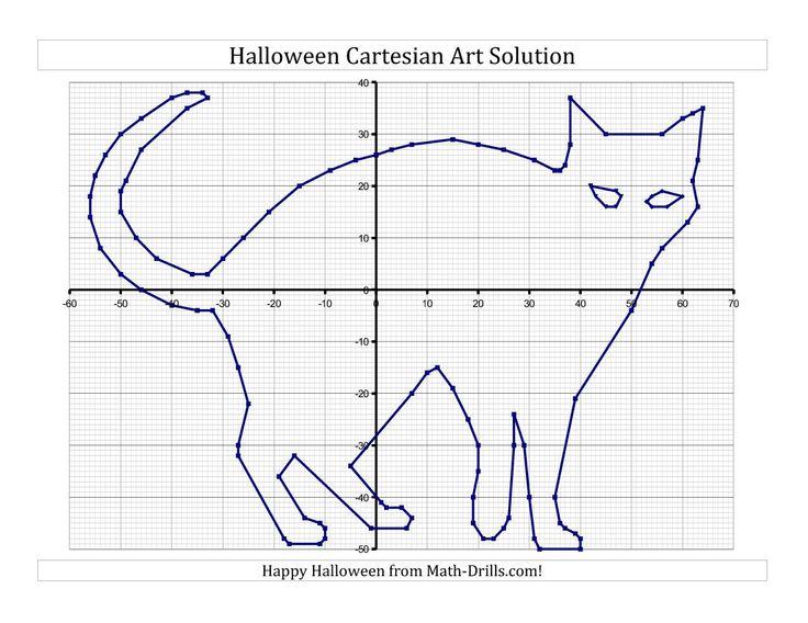 new for  halloween 2013  cartesian art halloween cat