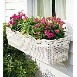 wicker window planters