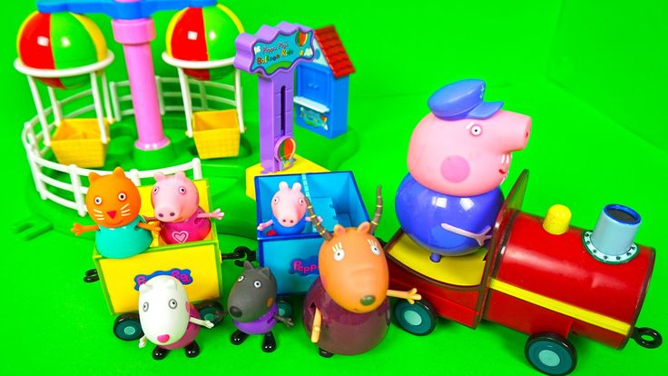 Свинка Пеппа играем в прятки в парке развлечений