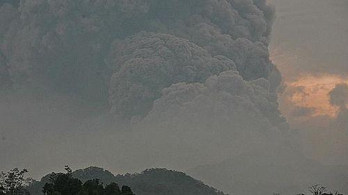 Saat gunung kelud meletus di tgl 13/02/2014
