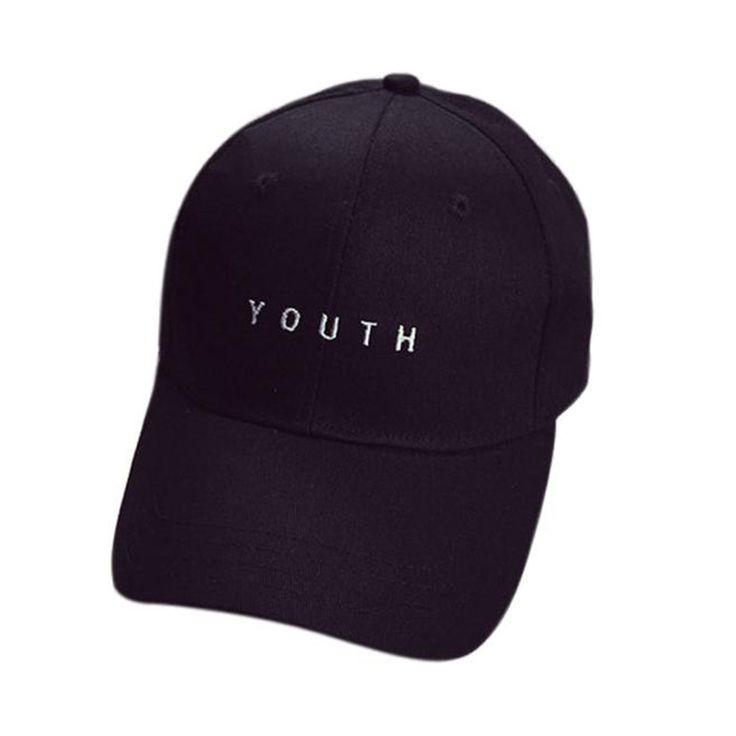 Delicate Hot! youth letter Embroidery Cotton Baseball Cap Boys Girls Snapback Hip Hop Flat Hat al22