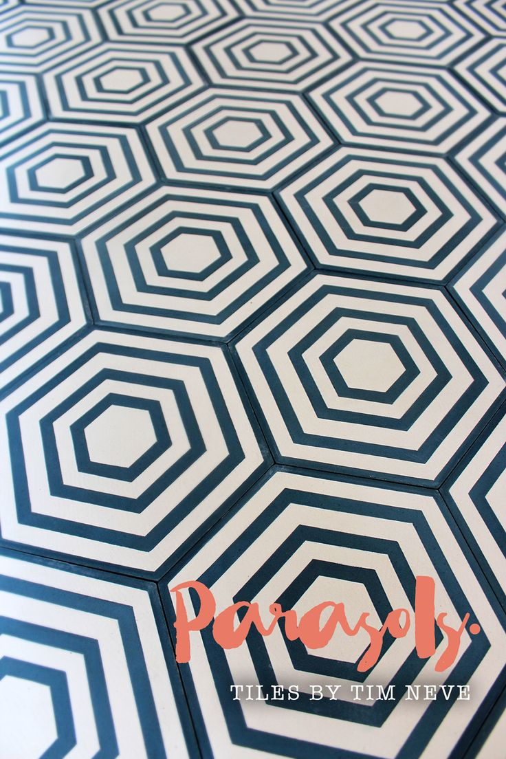'Paraols' Hexagon - Introducing the full debut range of tile designs by Stylist Tim Neve. Shop the range at store.timneve.com
