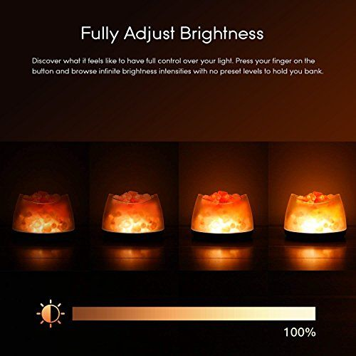 Himalayan Salt Lamp Pink Salt Rock Lamp With Dimmer Control Led