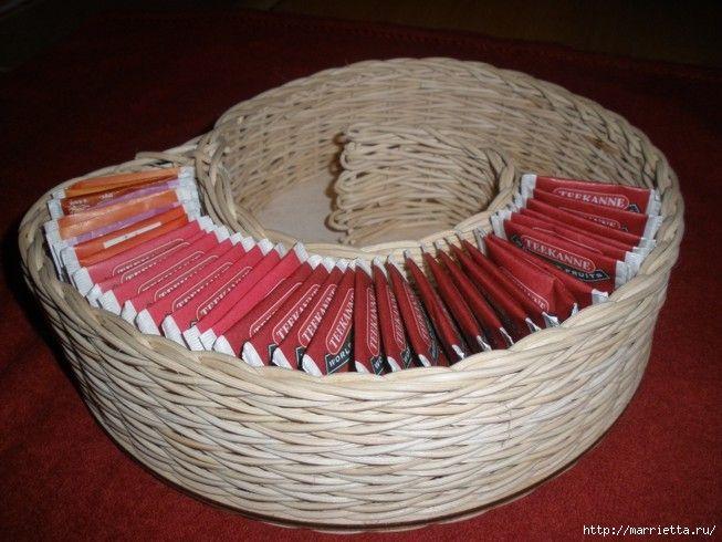 Tutorial pequeña cesta para bolsas de té - Tutorial petit panier pour sachets de thé - Tutorial small basket for tea bags
