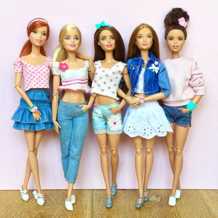 410 отметок «Нравится», 11 комментариев — Emily Polak (@emilypm3) в Instagram: «Today's outfits! #barbie #barbiedoll #barbiemadetomove #madetomovebarbie #madetomove…»