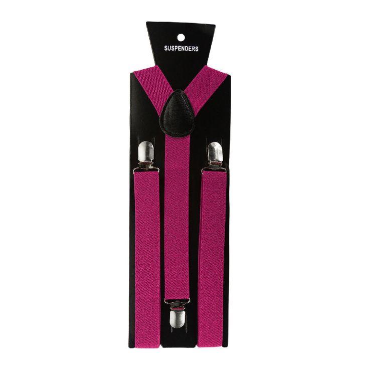 Hosenträger Unisex verstellbar Y -Form - pink in Bekleidung Accessoire  • Hosenträger