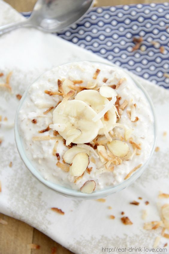 Coconut Cream Pie Overnight Oats: