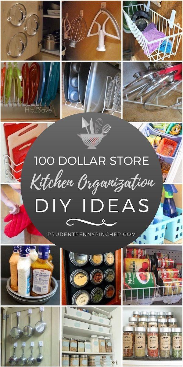 100-Dollar-Geschäft Küche Organisation Ideen