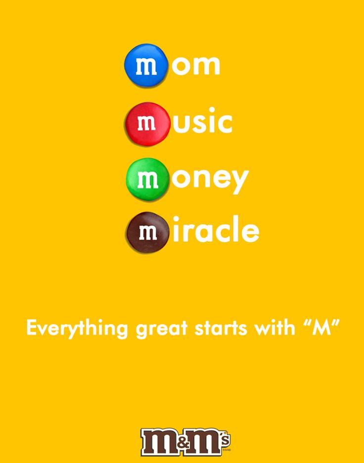 Creative Print Ads, 365 Day Copywriting Challenge - M&M's