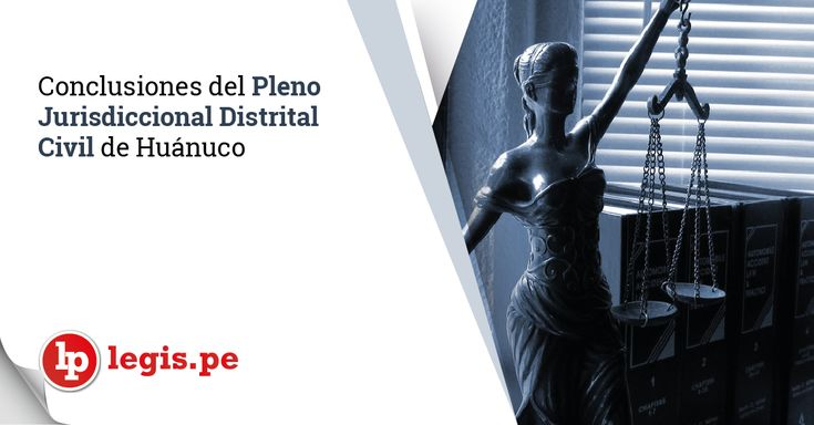 Conclusiones del Pleno Jurisdiccional Distrital Civil de Huánuco