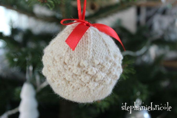 Comment tricoter une boule de Noël pour le sapin