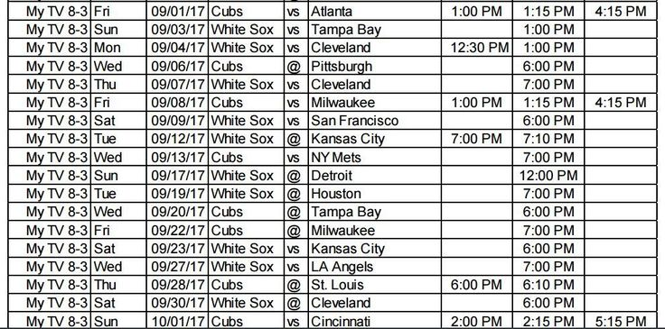 When you can watch the Chicago Cubs on My-TV 8.3 - http://wqad.com/2017/02/24/when-you-can-watch-the-chicago-cubs-on-my-tv-8-3/
