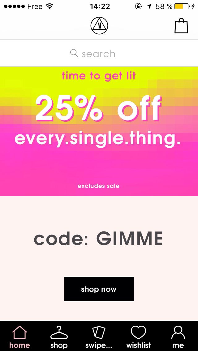 Code promo MissGuided : GIMME & Promo -25%