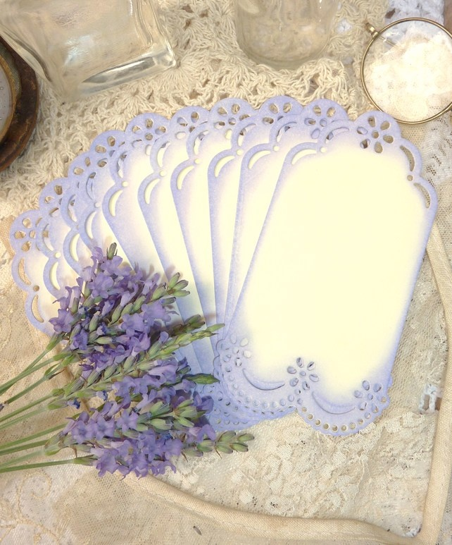 French Vintage Style Tags - Lavender £3.50