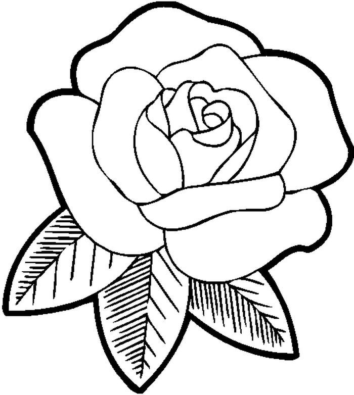 Simple Rose Coloring Pages In 2020 Rose Coloring Pages Rose Embroidery Pattern Flower Coloring Pages