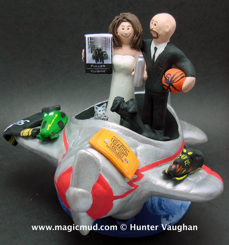Snowmobiler's Airways Wedding Cake Topper by http://magicmud.com/Wedding%20photos.htm magicmud@magicmud.com  1 800 231 9814  https://www.facebook.com/PersonalizedWeddingCakeToppers  https://twitter.com/caketoppers  #wedding #cake #toppers #custom#personalized #Groom #bride #anniversary #birthday#weddingcaketoppers#cake toppers#figurine#gift#wedding cake toppers#basketball#snowmobiler