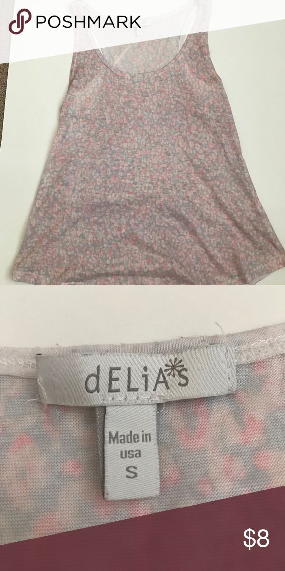 Light cheetah print shirt Super cute to wear during the spring and summer season delia's Tops Tank Tops