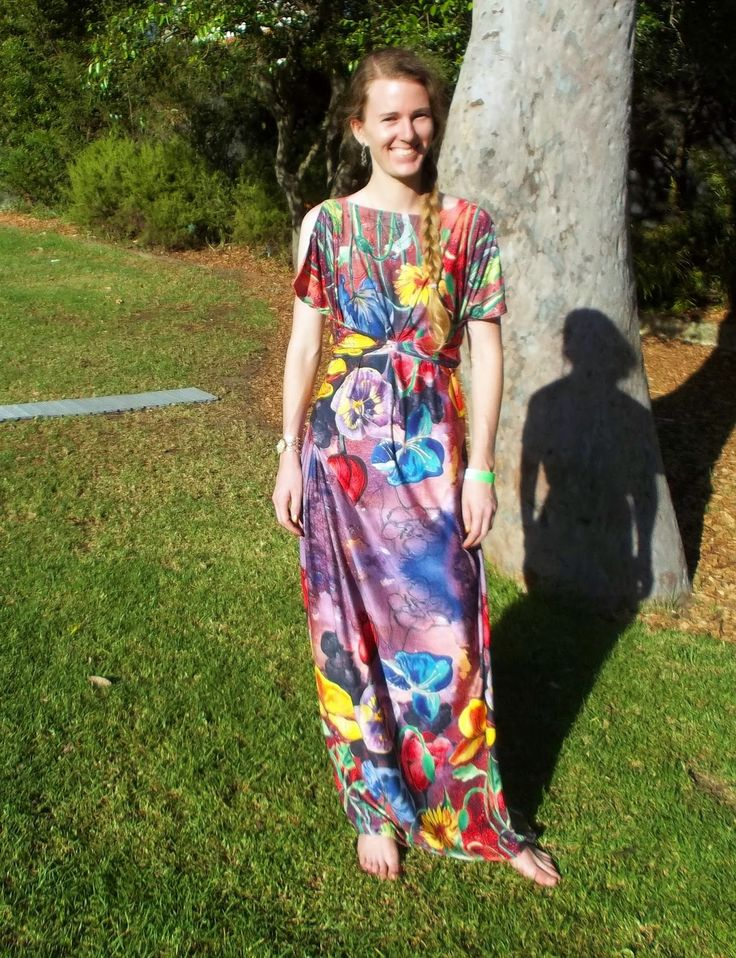 I've had my eye on this gorgeous jersey at Tessuti Fabrics for something like three years.  Antipodean Stitcher: The Antheia Maxi Dress