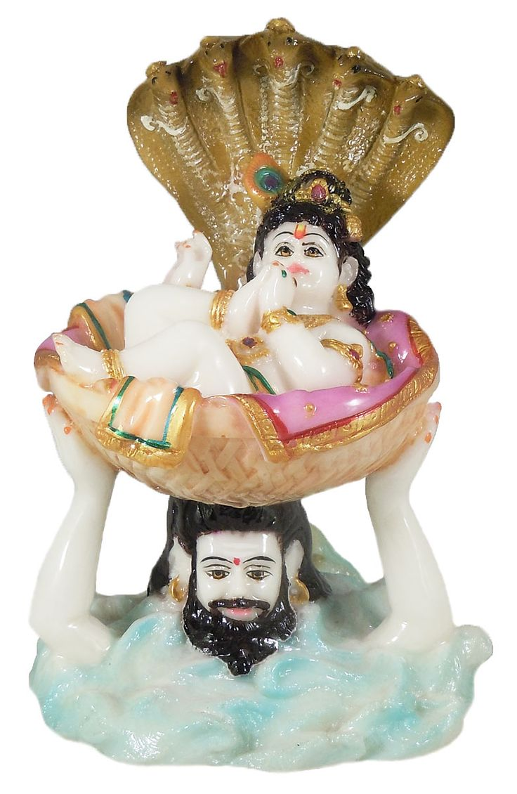 Vasudev Carrying Baby Krishna (Marble Dust)
