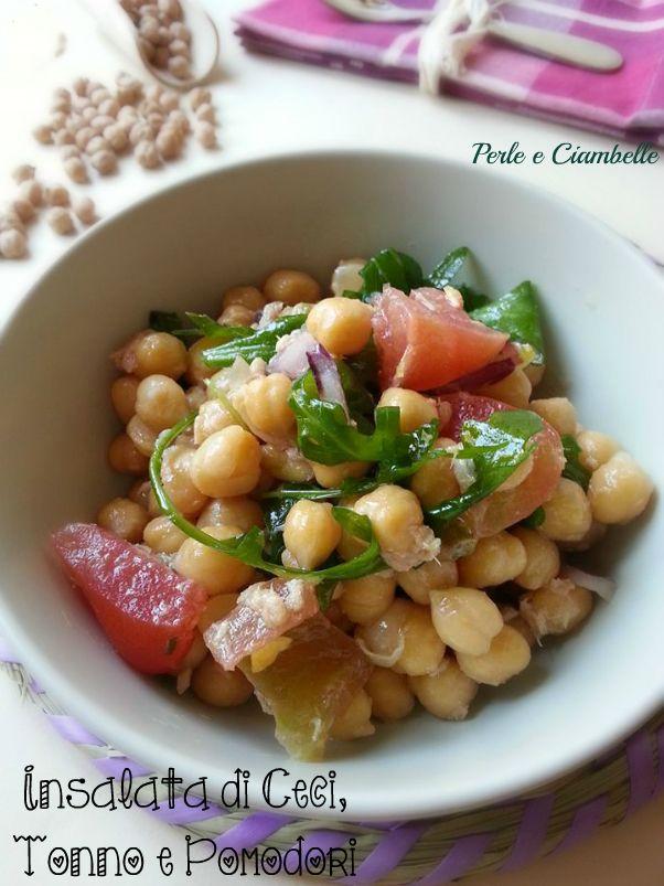 L'insalata di ceci, tonno e pomodori : una ricetta sana, un piatto unico, un insieme di gusti e sapori estivi!