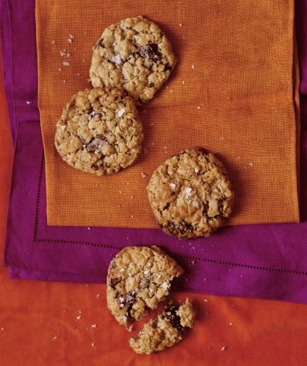 Salted Oatmeal Cookies with Dark Chocolate | We asked, and thousands of you answered. Here are the dishes most bookmarked, dog-eared, clipped, shared, and enjoyed—from once-a-week slow-cooker chicken to special-occasion chocolate cake. Simply put, they're keepers.