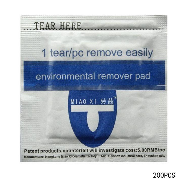 Mode 200 pc Digagalkan UV Gel Nail Polish Remover Wraps Pad Nail Art Cleaner Aseton
