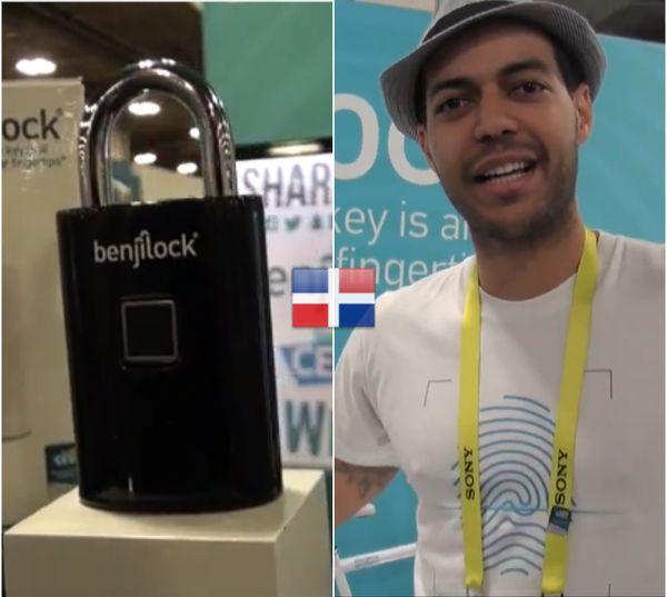 Wepa! Dominicano crea el primer candado que abre con huella digital