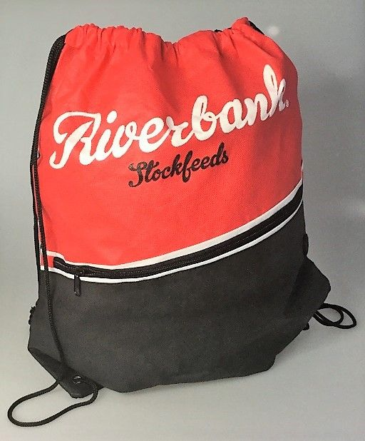 Drawstring bags with a zipper! #brandable #promotional