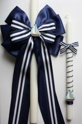 Perfect candles for a nautical themed baptism