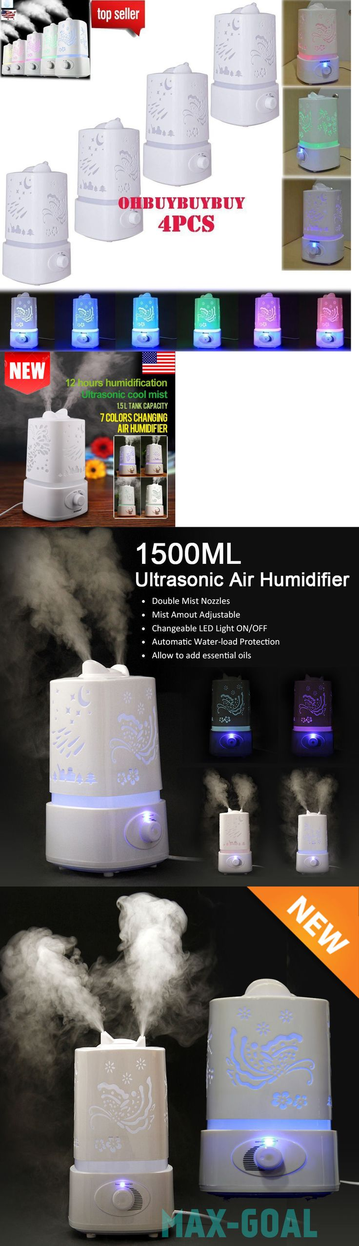 Humidifiers 71240: 4Pcs 1.5L Ultrasonic Aroma Humidifier Air Diffuser Purifier Lonizer Atomizer Vip -> BUY IT NOW ONLY: $53.95 on eBay!