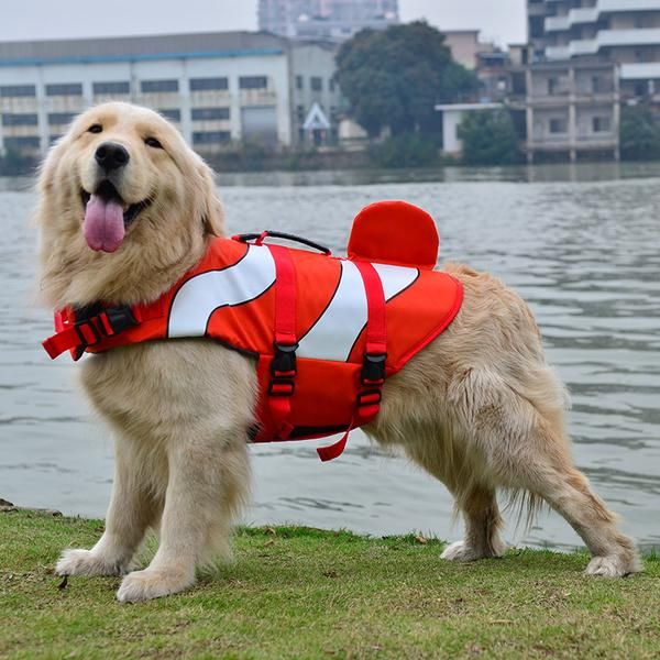 Clown Fish Style Doggy Life Jacket Dog Swimming Dog Life Vest Outdoor Dog Toys