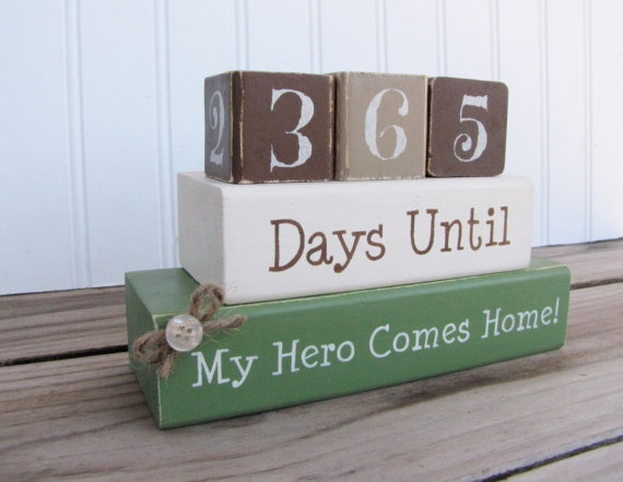 Deployment Countdown Blocks. think i'll make this with my silhouette