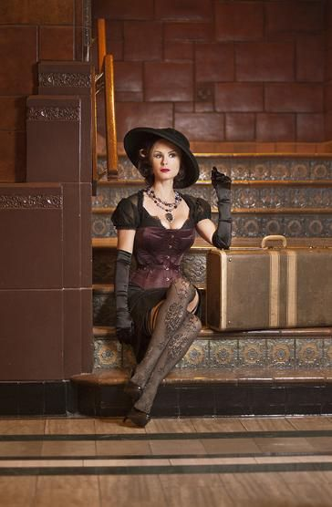 Chloe corset on Keegan Connor Tracy aka The Blue Fairy on ABC's Once Upon A Time.