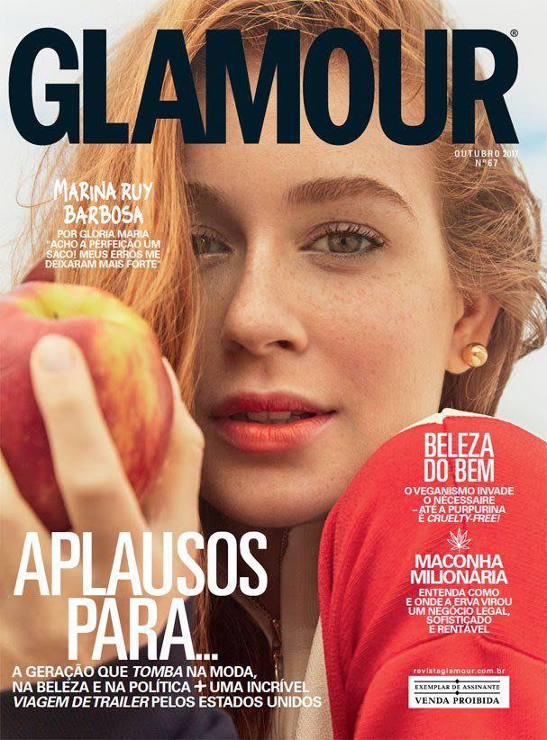 Marina Ruy Barbosa na capa de outubro de 2017 da revista Glamour Brasil