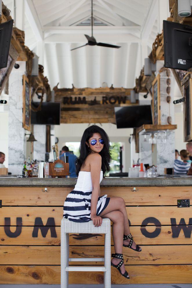 Sheryl Luke lets her hair down in a summery #TommyHilfiger striped dress