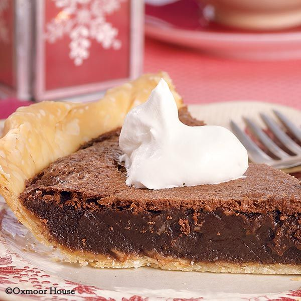 Gooseberry Patch Recipes: Chocolate Chess Pie - try serving warm with vanilla ice cream!