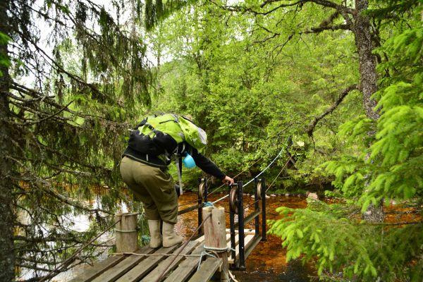 Av og til når man ferdes i skog og mark kommer man til en elv som er for dyp til å vasse over ute...