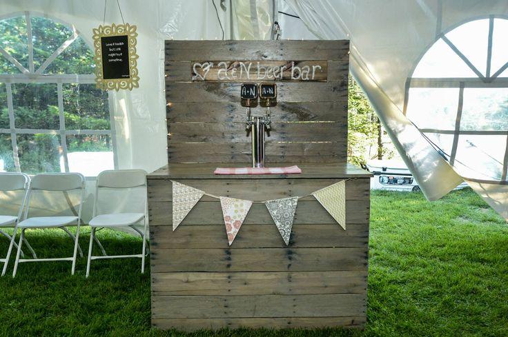 #WeddingBeerBar #ShabbyChicWedding #BeerBar