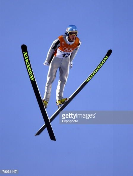 Sport Winter Olympic Games Salt Lake City Utah USA 13th February 2002 Ski Jumping Individual K120 Final Emmanuel Chedal France