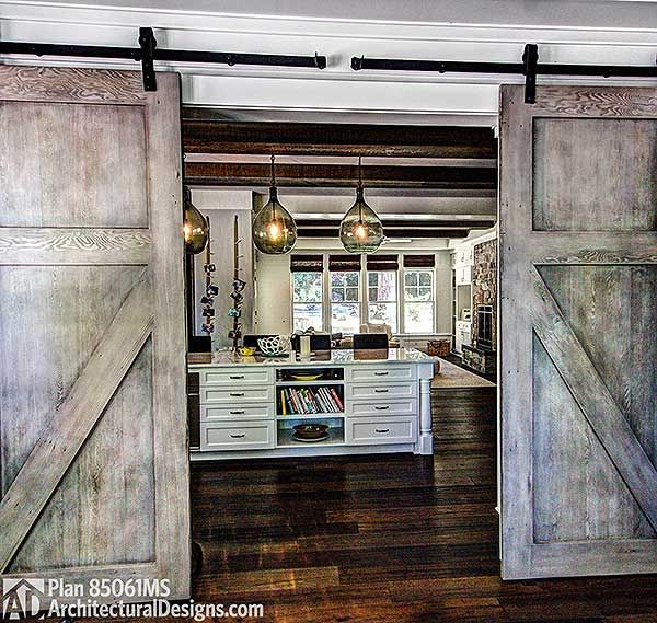 Plan 85061ms 4 bed shabby chic house plan barn doors for Custom home designer online