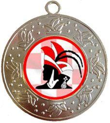 Carnavals onderscheiding steek zilver. Nieuw in ons assortiment. Voorzien van lint & logo verkrijgbaar vanaf € 1,25- ps