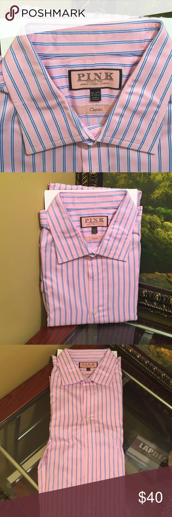 BEAUTIFUL PINK SHIRT 100% COTTON BY THOMAS PINK Beautiful pink shirt 100% cotton by Thomas Pink excellent condition looks like PINK Shirts Tees - Long Sleeve
