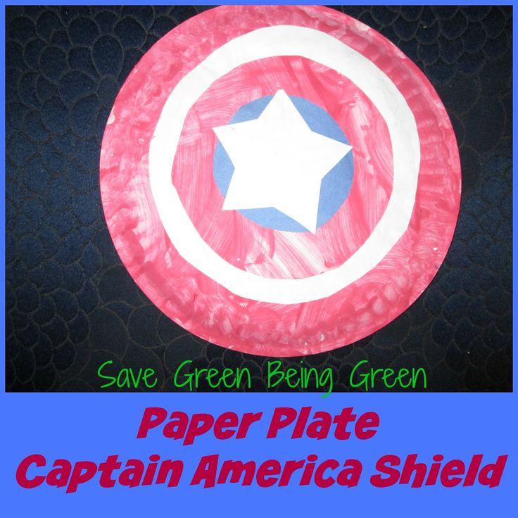 Paper Plate Captain America Shield Craft